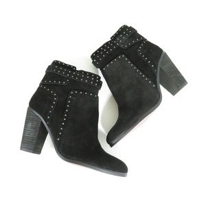 Vince Camuto Black Leather Ankle Booties